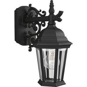 P5682-31:  Welbourne Textured Black One-Light Outdoor Wall Lantern