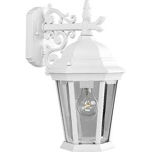 P5683-30:  Welbourne Textured White One-Light Outdoor Wall Lantern