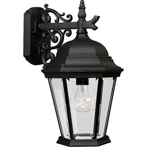 P5683-31:  Welbourne Textured Black One-Light Outdoor Wall Lantern