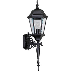 P5684-31:  Welbourne Textured Black One-Light Outdoor Wall Lantern