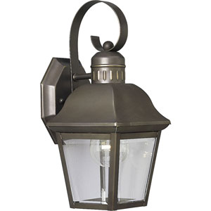 P5687-20:  Andover Antique Bronze One-Light Outdoor Wall Lantern