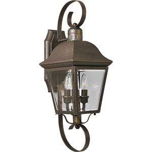 P5688-20:  Andover Antique Bronze Two-Light Outdoor Wall Lantern