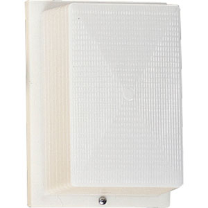Hard-Nox White Fixture One-Light Outdoor Wall Mount