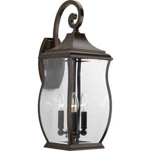P5699-108 Township Oil Rubbed Bronze Three-Light Outdoor Wall Sconce
