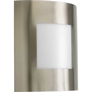 Anson Brushed Nickel One-Light Outdoor Wall Lantern with White Acrylic Diffuser