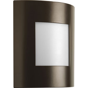 Anson Architectural Bronze One-Light Outdoor Wall Lantern with White Acrylic Diffuser