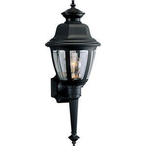 P5738-31:  Black One-Light Clear Beveled Acrylic Outdoor Wall Lantern