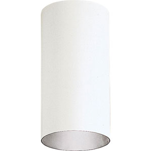 P5741-30/30K White 6-Inch One-Light LED Outdoor Cylinder Wall Sconce