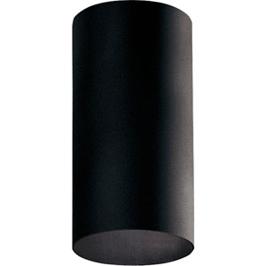P5741-31/30K Black 6-Inch One-Light LED Outdoor Cylinder Wall Sconce