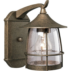 P5763-86:  Prairie Burnished Chestnut One-Light Outdoor Wall Lantern