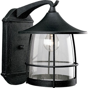 P5764-71:  Prairie Gilded Iron One-Light Outdoor Wall Lantern