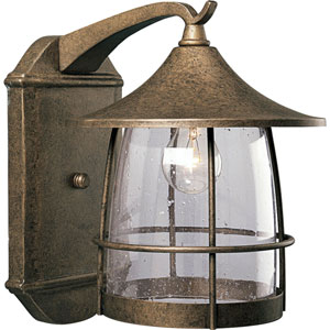 P5764-86:  Prairie Burnished Chestnut One-Light Outdoor Wall Lantern