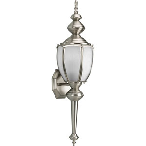 Roman Coach Brushed Nickel One-Light Outdoor Wall Lantern