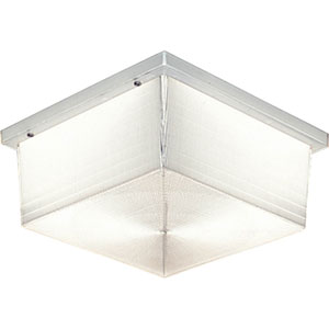 P5791-68:  Hard-Nox Clear Prismatic Two-Light Outdoor Flush Mount