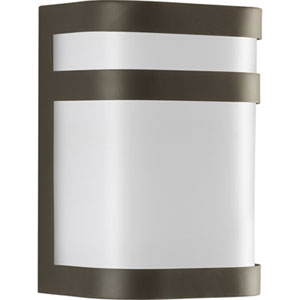 Valera Antique Bronze One-Light Outdoor Wall Sconce with White Acrylic Diffuser