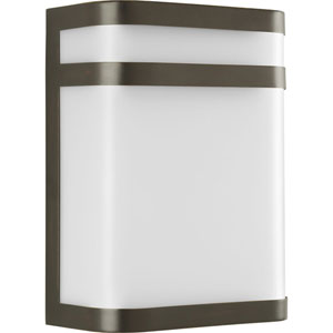 Valera Antique Bronze One-Light Outdoor Wall Lantern with White Acrylic Diffuser