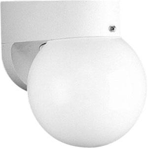 Non-Metallic White One-Light Outdoor Wall Sconce