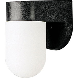 Polycarbonate Outdoor Black 7-Inch One-Light Outdoor Wall Sconce with White Acrylic Diffuser