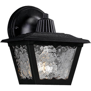Polycarbonate Outdoor Black 7.75-Inch One-Light Outdoor Wall Sconce
