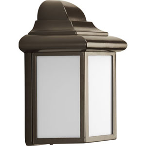 Millford Antique Bronze One-Light Outdoor Wall Sconce with White Acrylic Diffuser
