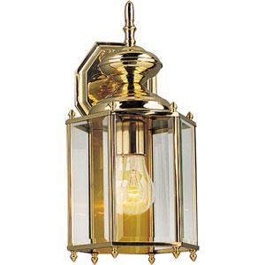 P5832-10:  BrassGUARD Lanterns Polished Brass One-Light Outdoor Wall Lantern