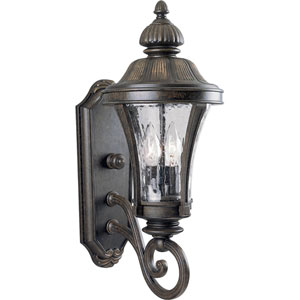 P5835-77:  Nottington Forged Bronze Two-Light Outdoor Wall Lantern