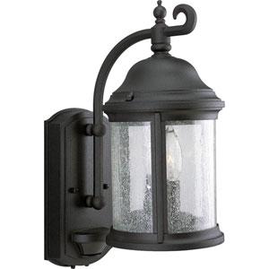 P5854-31:  Motion Sensor Black Two-Light Outdoor Wall Lantern