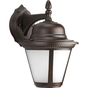 P5863-2030K9 Westport Antique Bronze One-Light Energy Star 9-Inch LED Outdoor Wall Lantern