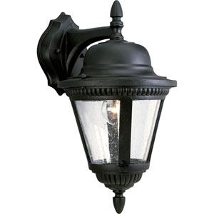 P5863-31:  Westport Black One-Light Outdoor Wall Lantern