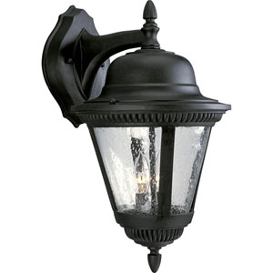 P5864-31:  Westport Black Two-Light Outdoor Wall Lantern