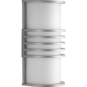 Parker Satin Aluminum One-Light Wall Sconce with White Acrylic Diffuser