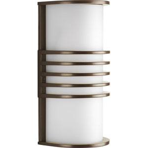 Parker Antique Bronze 10.25-Inch One-Light Wall Sconce with White Acrylic Diffuser