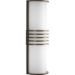 Parker Antique Bronze Two-Light Outdoor Wall Lantern with White Acrylic Diffuser