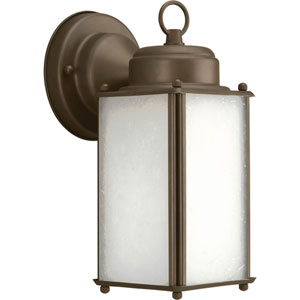 Roman Coach Antique Bronze One-Light 10-Inch Outdoor Wall Sconce with Etched Glass
