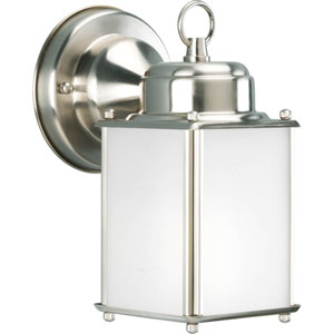 Roman Coach Brushed Nickel One-Light Outdoor Wall Sconce