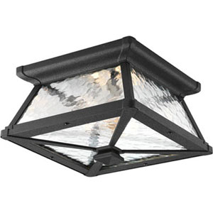 Mac Black Two-Light Outdoor Flush Mount