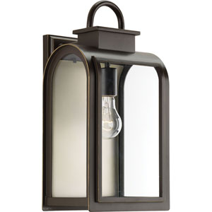 P6031-108 Refuge Oil Rubbed Bronze 8-Inch One-Light Outdoor Wall Sconce