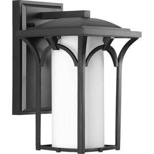 Promenade Black One-Light 6.5-Inch Wide Fluorescent Outdoor Wall Sconce