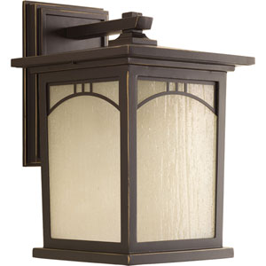 P6053-20 Residence Antique Bronze One-Light 8-Inch Outdoor Wall Lantern