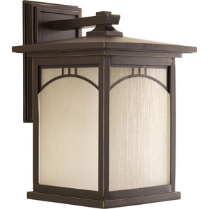 P6054-20 Residence Antique Bronze One-Light 10-Inch Outdoor Wall Lantern