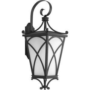 P6083-31 Cadence Black One-Light 12.5-Inch Outdoor Wall Lantern
