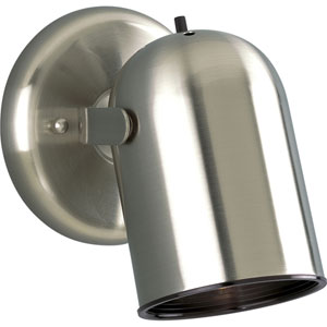 Directional Brushed Nickel One-Light Directional Convertible Wall Spot Light