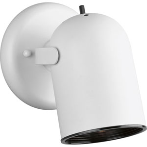Directional White One-Light Directional Convertible Wall Spot Light