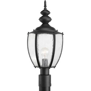 Roman Coach Black One-Light Outdoor Post Lantern