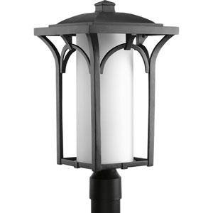 Promenade Black One-Light Fluorescent Outdoor Post Lantern