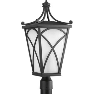 P6435-31 Cadence Black 10-Inch One-Light Outdoor Post Lantern