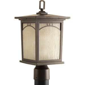 P6452-20 Residence Antique Bronze 8-Inch One-Light Outdoor Post Lantern