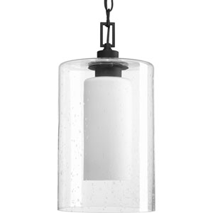 P6520-31 Compel Black 8-Inch One-Light Outdoor Pendant