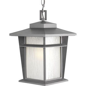 Loyal Textured Graphite One-Light Fluorescent Outdoor Hanging Lantern