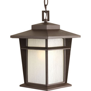 Loyal Antique Bronze One-Light Fluorescent Outdoor Hanging Lantern